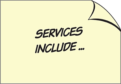 Services include